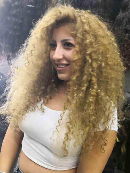הארכת שיער מתולתל מוטי רונאל
