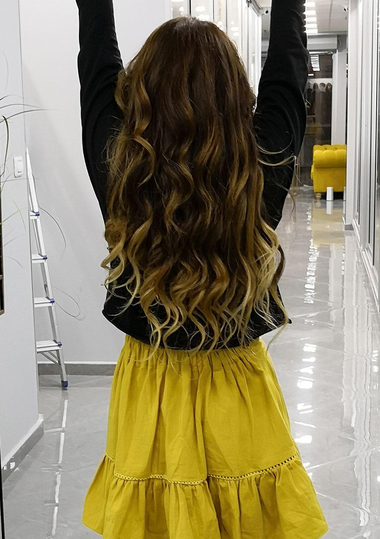 הארכת שיער בשילוב תספורת נשים 2019 מדורגות בשילוב בלייאז' עדין